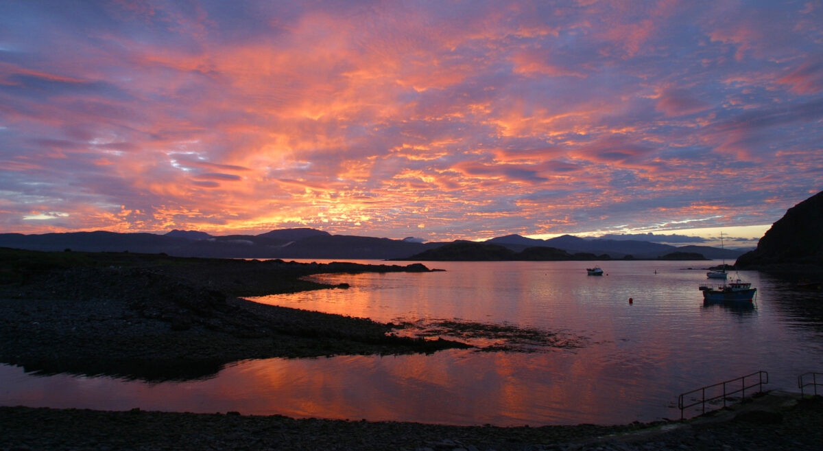 Photo illustrating artickle on creative writing courses on Easdale, Scotland